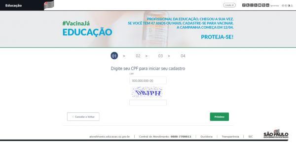 Governo de SP lança cadastro para vacinação de professores e funcionários de escolas