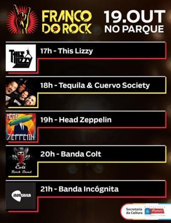 Festival 'Franco do Rock' reúne apresentação de cinco bandas em Franco da Rocha