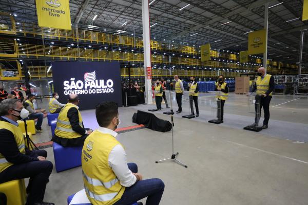 Doria anuncia parceria com o Mercado Livre para geração de empregos em Cajamar