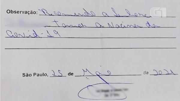 Falsos atestados médicos para vacinação Covid são vendidos no Centro de SP