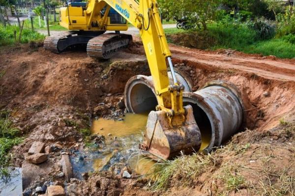 Prefeitura de Cajamar inicia obras em redes de drenagem no bairro km 41,5