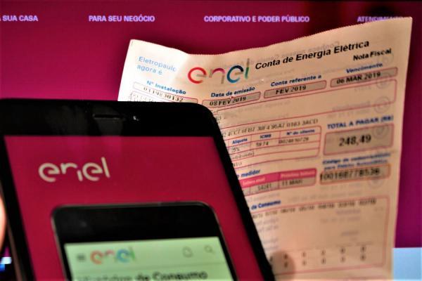 Enel: Reajuste de 10% na conta de luz começa a valer