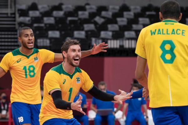 Com virada espetacular, Brasil vence Argentina no vôlei masculino