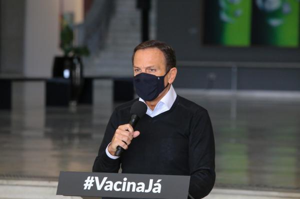 Doria afirma que Ministério da Saúde entregou só metade de lote de vacinas da Pfizer previsto para o estado