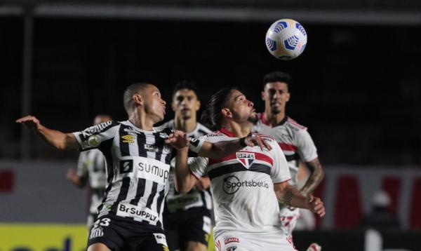 São Paulo e Santos empatam no Morumbi e seguem próximos do Z4